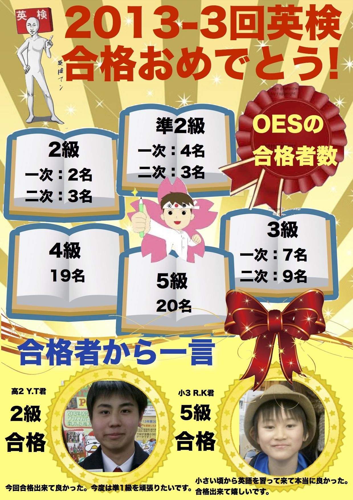 2013-3回英検合格ポスター 20130314