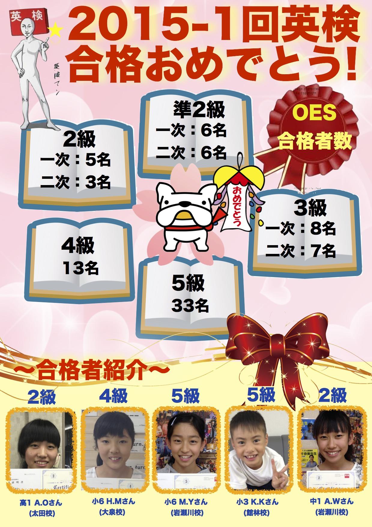 2015-1回英検合格ポスター WEB OTA1 GL1 IW2 TES1